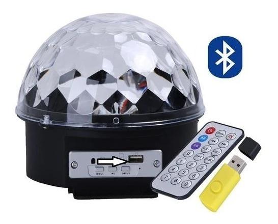 Bola Maluca Laser Glob Festa Crystal Led Pendrive Mp3 Gratis