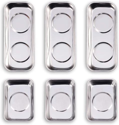 Wxtools - Juego De 6 Bandejas Magneticas (3.5 X 2.4 In, Cua