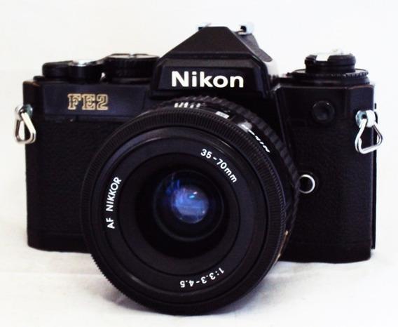 Câmera Nikon Fe2 Com Lente 35-70mm