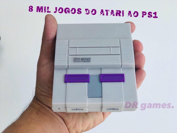 Mini Super Nintendo 2 Controles + 2 Sem Fio
