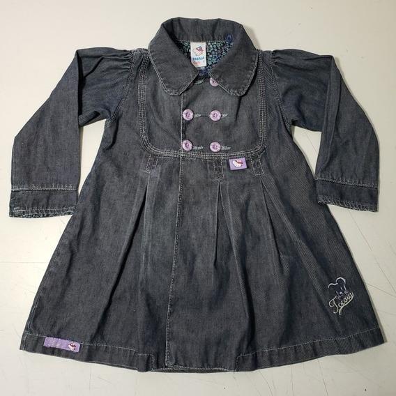 Jaqueta Sobretudo Jeans Infantil Tocaia Girls 2 Anos (702)