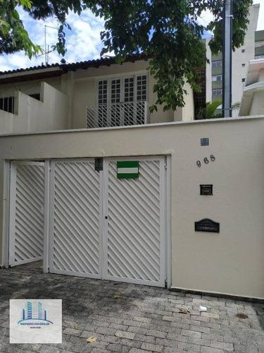 Imagem 1 de 30 de Sobrado, 200 M² - Venda Por R$ 2.400.000 Ou Aluguel Por R$ 5.600/mês - Moema - São Paulo/sp - So0183