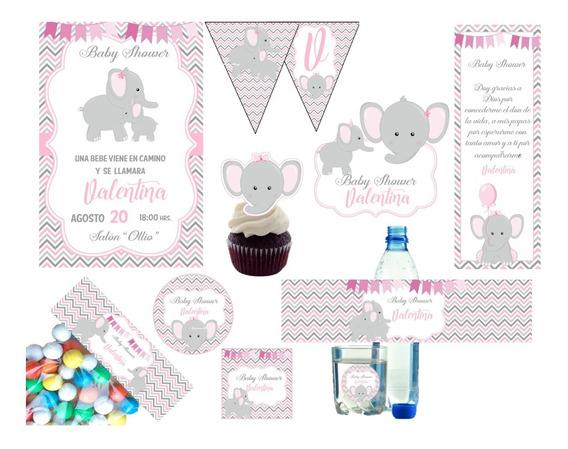 Kit Imprimible Baby Shower Para Niña