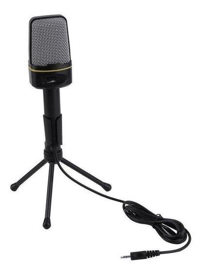 Microfone OEM SF-920 condensador omnidirecional preto