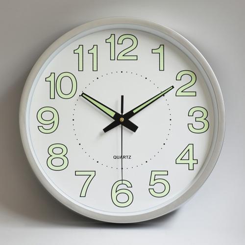 Imagen 1 de 10 de Reloj De Pared,30 Cm Grande Moderno Luminoso Reloj De Pared