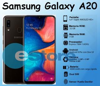 Samsung Galaxy A20 32gb Rom / 3gb Ram Dual Sim