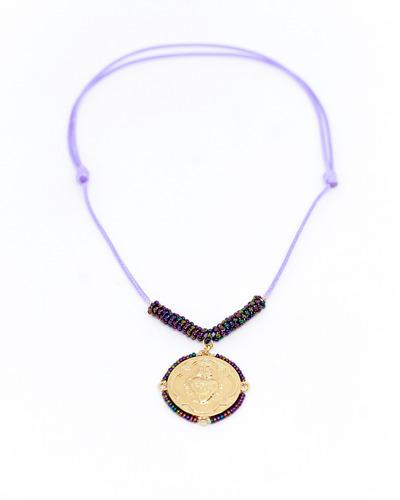 Collar Cordón Medalla Sagrado Corazón