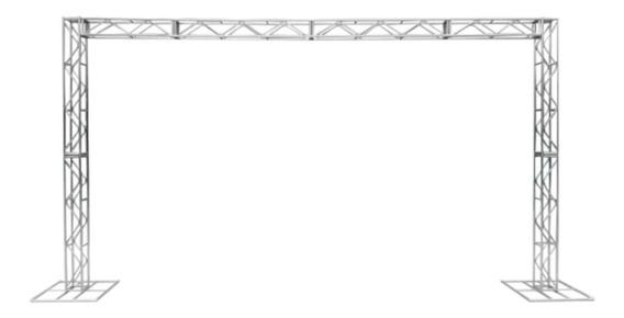 Treliças Kit Trave Box Truss Dj Q20 Aço 3m Por 5m Aço