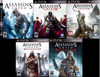 Pack De 5 Juegos Assassins Creed ~ Ps3 Digital Español