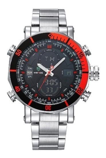 Relógio Masculino Original Prata Grande Prova D
