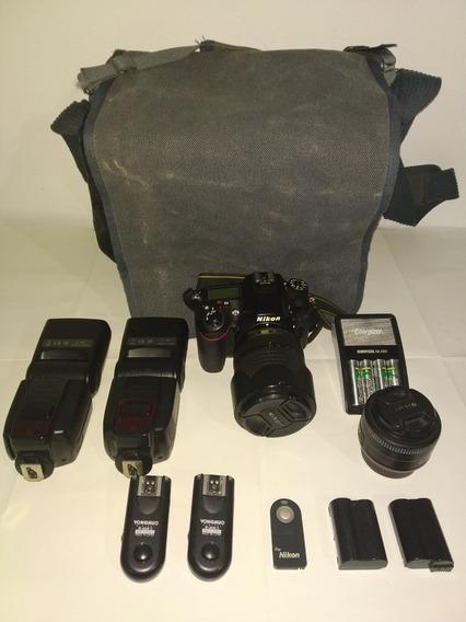 Nikon D7100 + 18-140 + 35 Mm 1.8 + Accesorios