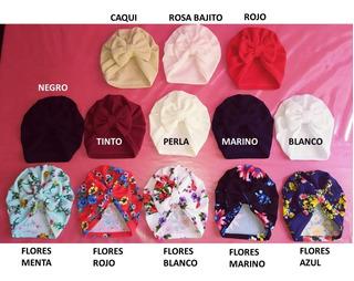 Gorro Turbantes De Moño O Nudo Para Bebe 0-36 M.