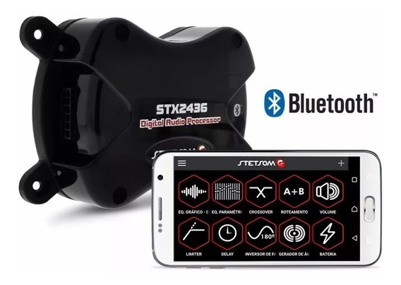 Processador De Audio Stetsom Stx2436 Equalizador Bluetooth