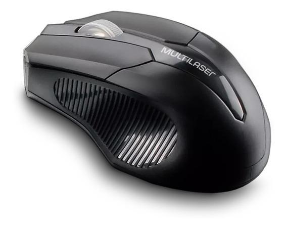 7 Mouse Sem Fio 2.4 Ghz Usb Box Multilaser Preto - Mo264