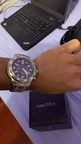 Relógio Náutica Azul Cronograph N19509g