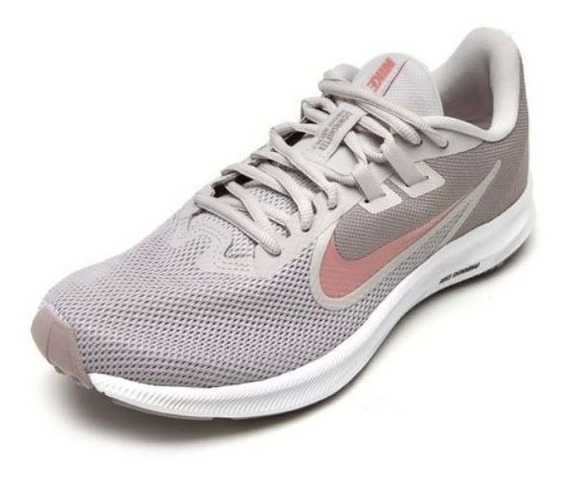 Tênis Nike Downshifter 9 Cinza/rosa Original C/nota