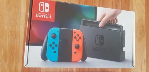 Nintendo Switch 32gb Rojo Y Azul Neón/control Adic./3juegos