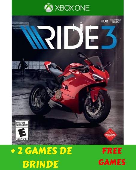 Ride 3 Xbox One + 2 Jogos De Brinde