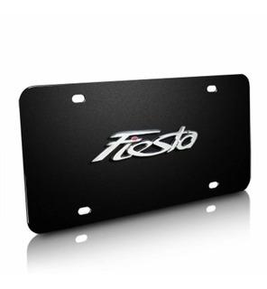 Ford Fiesta Black Stainless Steel License Plate