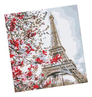 1 Kit De Pintura A Óleo De Pintura Torre Eiffel De