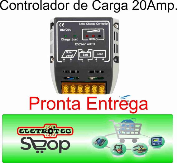 Controlador De Carga 20 Amperes 12v E 24v-3 Peças