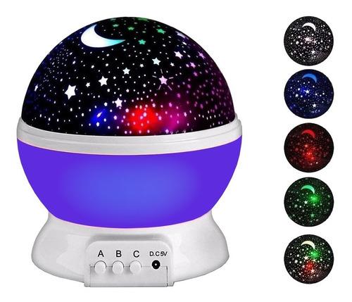Velador Luz De Noche Proyector De Estrellas Giratorio
