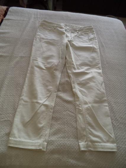 Pantalon Jeans Liz Claiborne Dama 14 Blanco Strech