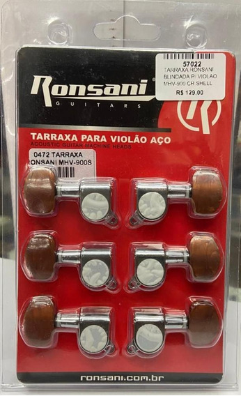 Tarraxa Ronsani Blindada P/ Violao Mhv-900 Cr Shell
