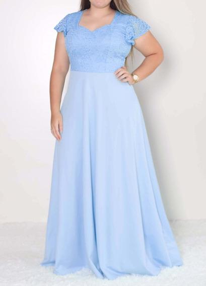 Vestido Noiva Longo Godê Plus Size Com Renda 246