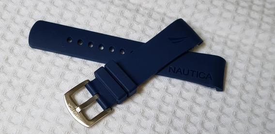 Pulseira Relogio Nautica 22mm Frete Grátis Azul Escuro