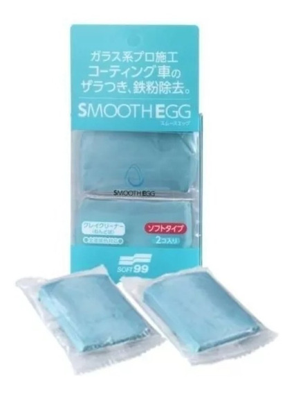 Clay Bar Smooth Egg Macia Com 2 Unidades 50g Soft99
