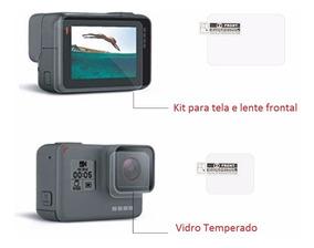 Lente + Visor Pelicula Vidro Temperado Camera Go Pro Hero 5