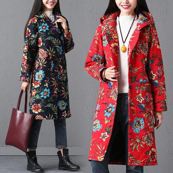 Mujeres Étnicas Prendas De Abrigo Multicolor Estampado