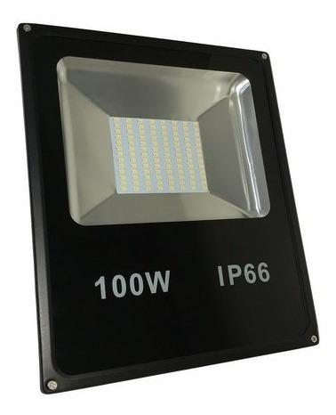 Kit 8 Refletor Smd 100w Led Bivolt Branco Frio 4 Meses Garan