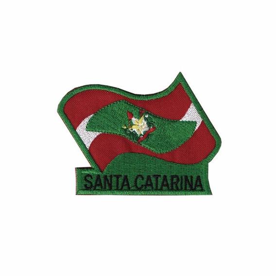 Bordado Termocolante Bandeira Santa Catarina - B-01