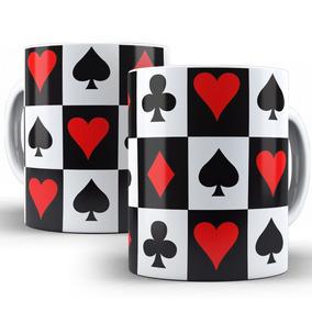 Caneca Baralho Cartas Poker Naipes Jogos Cassino 02