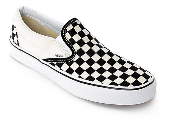 Tenis Vans Clasic Slip On Checkerboard Look Trendy