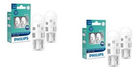 4x Lampada Pingão De Led Philips Ultinon T10 W5w Luz Branca