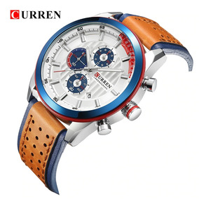 Relógio Masculino Curren 8292 - Couro Original - Cronográfo
