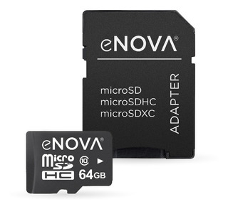 Tarjeta De Memoria Micro Sd 64gb Enova Clase 10 - Cuotas