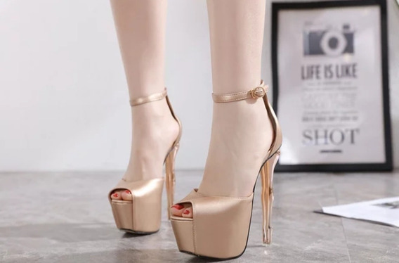Sapato Feminino Peep Toe Luxo Importado - Pronta Entrega