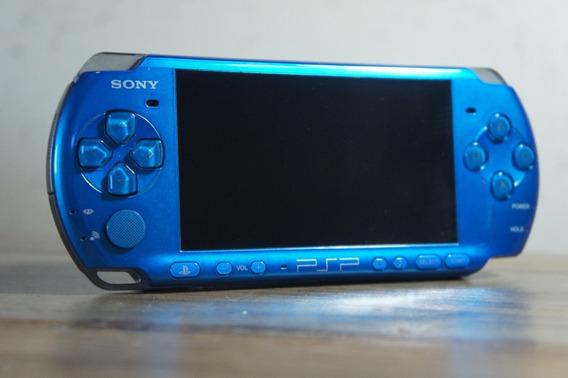 Psp 3000- Blue Edition/edição Limitada + Case Psp + Jogos