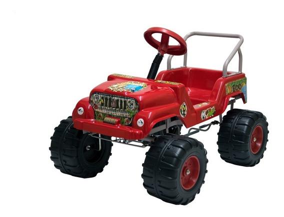 Karting A Pedal Auto Infantil Reforzado Jeep 4x4 Zoo (643z)