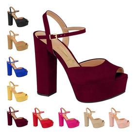 029b9a2d0 Sandalia De Salto Alto Cor Vinho - Sapatos com o Melhores Preços no ...