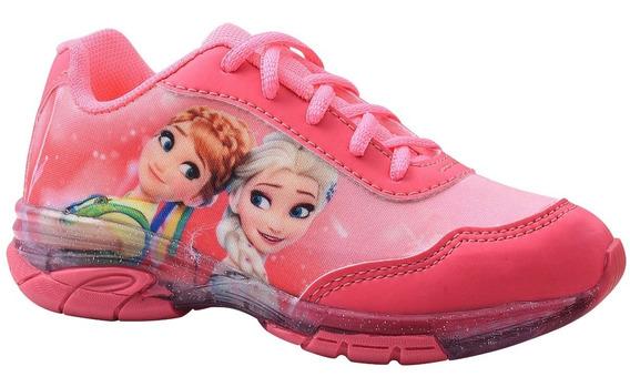 Tênis Infantil Frozen Com Luz.