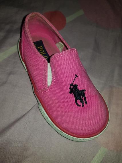 Zapatos Polo Fucsia Niña Talla 23 Poco Uso