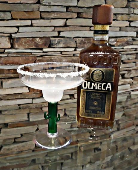 Copa Margarita Cactus Acrílico Transparente 400cc Irrompible