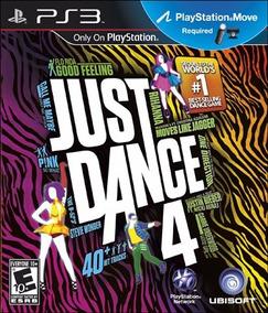 Jogo Just Dance 4 Playstation 3 Ps3 Ps Move Mídia Física Jd4