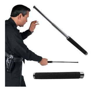 Tambo Baston Expandible 50cm Grande Acero Defensa Personal