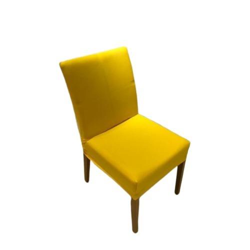 Kit 4 Unidades Capa De Cadeira Amarela - Malha Resistente
